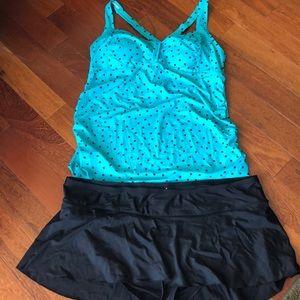Motherhood Maternity swim suit set, L, XL, EUC